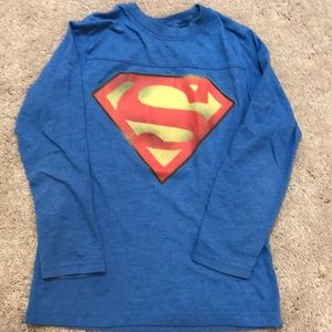 Superman boys long shirt sz small (5/6)